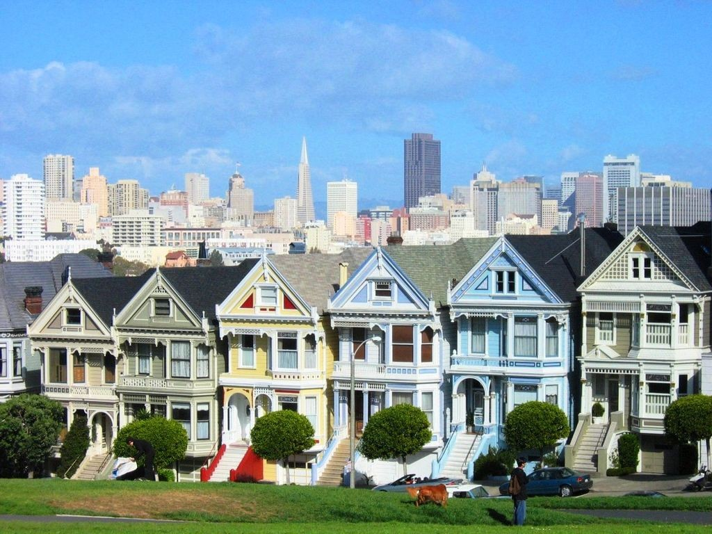 Painted Ladies, källa Wkimedia https://en.wikipedia.org/wiki/Painted_ladies